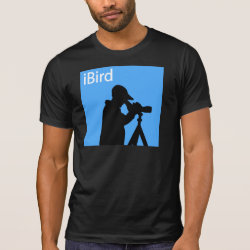 Men's Alternative Apparel Basic Crew Neck T-Shirt with iBird Blue design