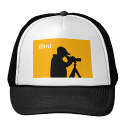 Trucker Hat with iBird Orange design