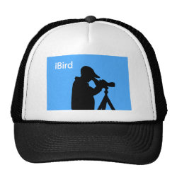 Trucker Hat with iBird Blue design
