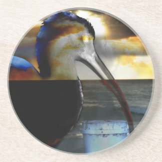 Ibis combined with sunrise picture neat design coasters