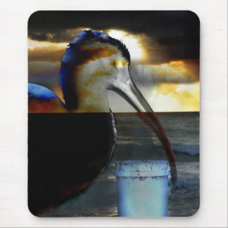 Ibis combined with sunrise picture neat design mouse pad
