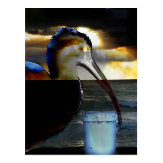 Ibis combinó con diseño aseado de la imagen de la tarjeta postal