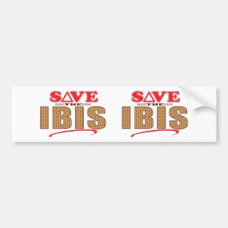 Ibis Save Bumper Sticker