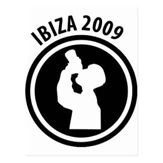 Ibiza 2009 drinker icon postcard
