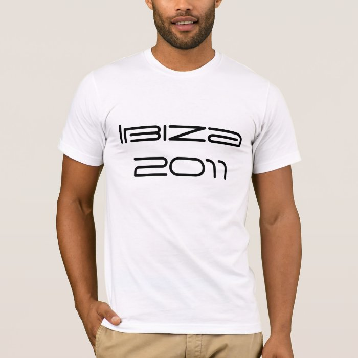 Ibiza 2011 T Shirt Put Your Own Name And Number On Zazzle