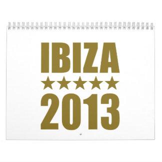 Ibiza 2013 calendar