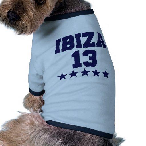 Ibiza 2013 camiseta con mangas para perro