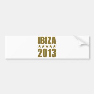 Ibiza 2013 car bumper sticker