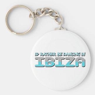 IBIZA BASIC ROUND BUTTON KEYCHAIN