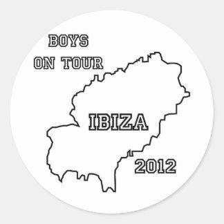Ibiza - Boys on Tour 2012 Classic Round Sticker