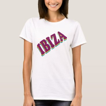 Beach Themed Ibiza Clubbing Typography Tee