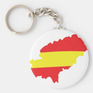 Ibiza contour flag icon keychain