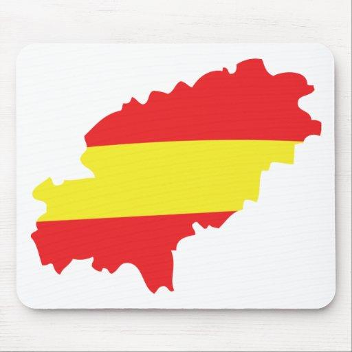 Ibiza contour flag icon mouse pad