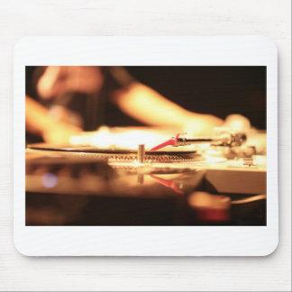 Ibiza DJ deejay turntable record in nightclub bar