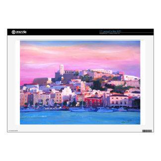 Ibiza Eivissa Old Town And Harbour Pearl Laptop Decal