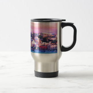 Ibiza Eivissa Old Town And Harbour Pearl 15 Oz Stainless Steel Travel Mug