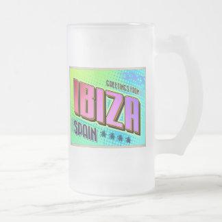 IBIZA FROSTED GLASS BEER MUG