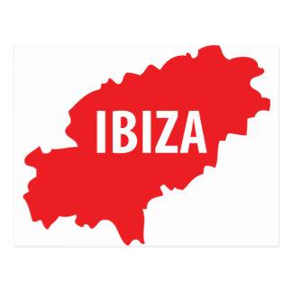 Ibiza icon postcard