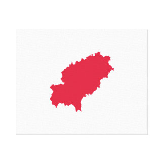 Ibiza map stretched canvas print