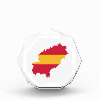 Ibiza map flag Spain Award