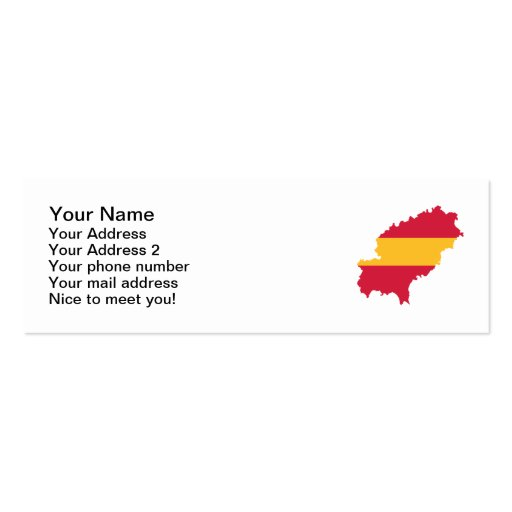 Ibiza map flag Spain Double-Sided Mini Business Cards (Pack Of 20)