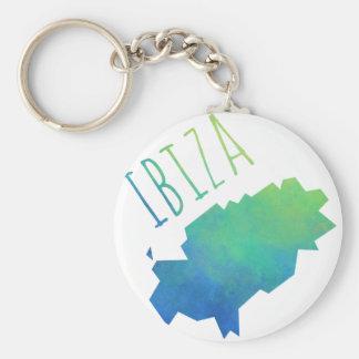 Ibiza Map Keychain