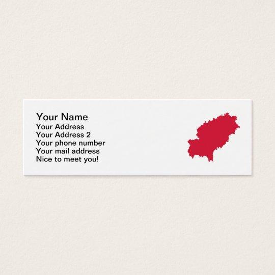 Ibiza map mini business card