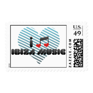 Ibiza Music fan Postage Stamp