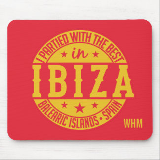IBIZA Spain custom monogram mousepad