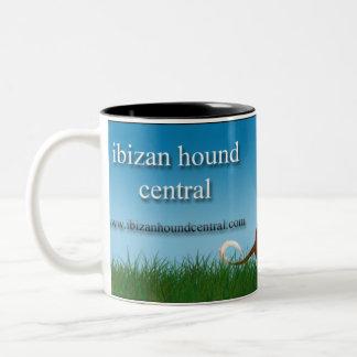 Ibizan Hound Central Two-Tone Coffee Mug