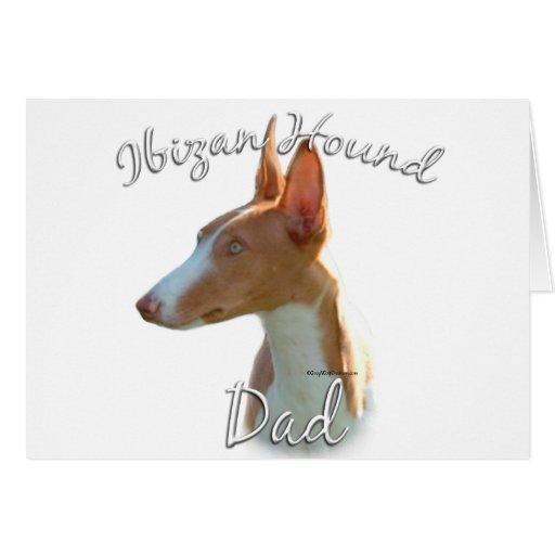 Ibizan Hound Dad 2 Greeting Card