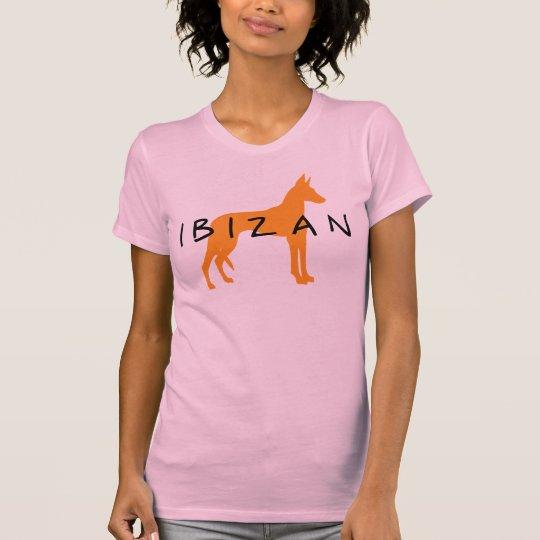 Ibizan Hound (gold w/ text) T-Shirt
