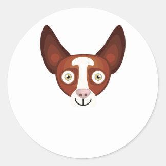 Ibizian Hound - My Dog Oasis Classic Round Sticker