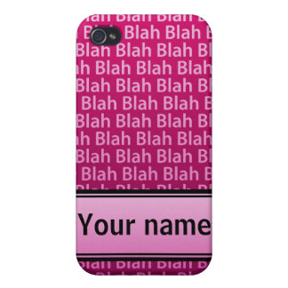 iBlah -Pink iPhone 4 Cases