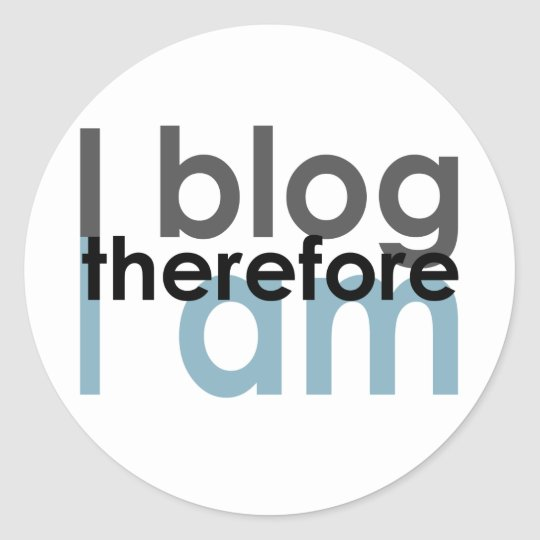 iblog classic round sticker