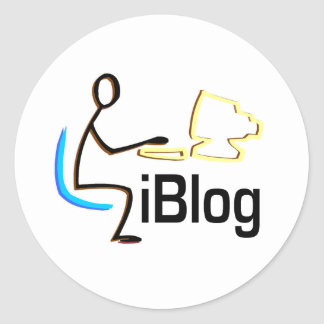 iBlog T-shirts and Gifts. Classic Round Sticker