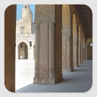 Ibn Tulun Mosque Cairo Square Sticker