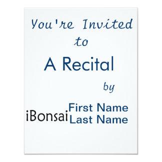 iBonsai black text bonsai design funny Custom Announcements