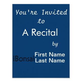 iBonsai black text bonsai design funny Personalized Announcements