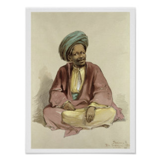 Ibrahim - from Sunnar, 1856 Poster