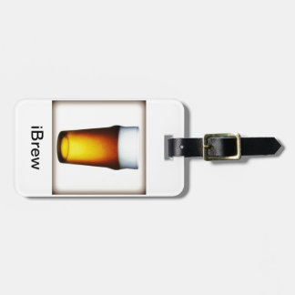 iBrew Ale Glass Luggage Tag