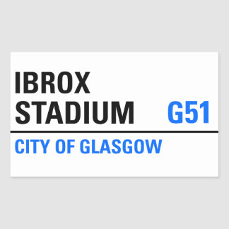 Ibrox Stadium Street Sign Rectangular Sticker