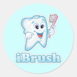 iBrush Round Sticker