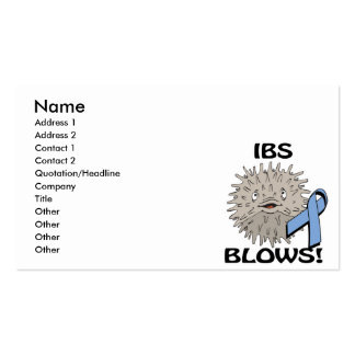 IBS Blows Awareness Design Double-Sided Standard Business Cards (Pack Of 100)