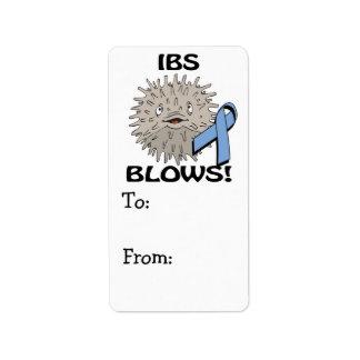IBS Blows Awareness Design Address Label