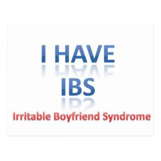 IBS:  Irritable Boyfriend Syndrome Postcard