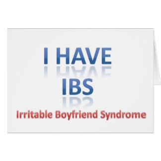 IBS:  Síndrome irritable del novio Felicitacion