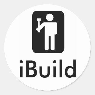 iBuild Logo Classic Round Sticker