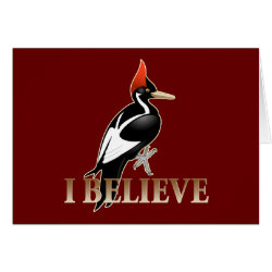 Note Card with I Believe design