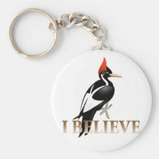 IBWO: I Believe Basic Round Button Keychain